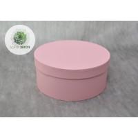 Papírdoboz rózsaszín D16cm