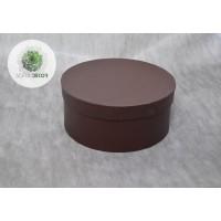 Papírdoboz csokibarna D16cm