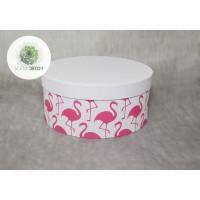 Papírdoboz flamingós D20cm