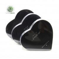 Papírdoboz szív forma S/3 fekete
