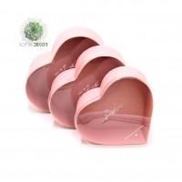 Papírdoboz szív forma S/3 rózsaszín