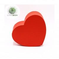 Papírdoboz szív piros