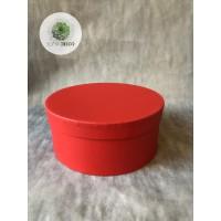 Papírdoboz piros D16cm