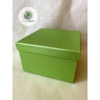 Papírdoboz bőrmintás zöld