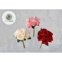 Rózsa kötegelt csokor x7