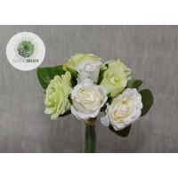 Rózsa kötegelt csokor x7 krém-zöld