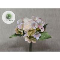 Rózsa-hortenzia kötegelt csokor x7 krém-zöld