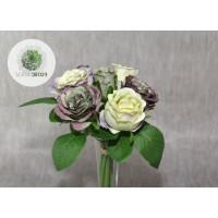 Rózsa kötegelt csokor x7 lila-zöld