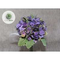 Hortenzia kötegelt csokor x9  lila