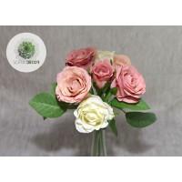 Rózsa kötegelt csokor x7 mályva-krém