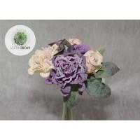 Rózsa-dália kötegelt csokor x5 lila-púderlila