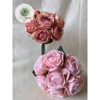 Rózsa kötegelt csokor x7 28cm