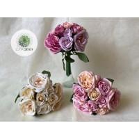 Rózsa kötegelt csokor x9 24cm