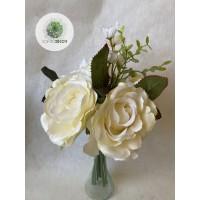 Rózsa-hortenzia kötegelt csokor x10  34cm