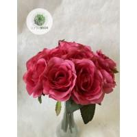 Rózsa kötegelt csokor x15
