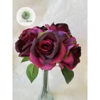 Rózsa kötegelt csokor x6  35cm (TÖBB SZÍNBEN!)