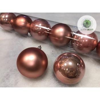 Gömb 8cm púder rózsaszín