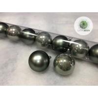 Gömb 6cm hamvas zöld