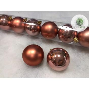 Gömb 6cm roségold