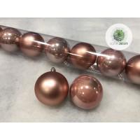 Gömb 6cm púder rózsaszín
