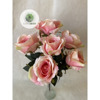 Rózsa csokor x7   45cm (TÖBB SZÍNBEN!)