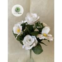 Rózsa-alstromelia csokor x7