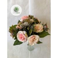 Rózsa csokor x13  35cm  (TÖBB SZÍNBEN!)