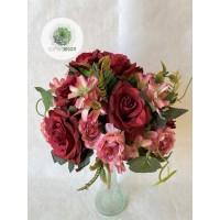 Rózsa, boglárka csokor x14 (TÖBB SZÍNBEN!)
