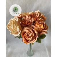 Rózsa-hortenzia csokor x9 (TÖBB SZÍNBEN!)