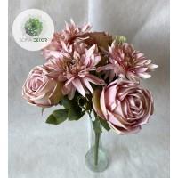 Rózsa-dália csokor x9 (TÖBB SZÍNBEN!)