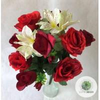 Rózsa-alstro csokor x12 (TÖBB SZÍNBEN!)