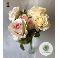 Rózsa csokor x9 50cm (TÖBB SZÍNBEN!)