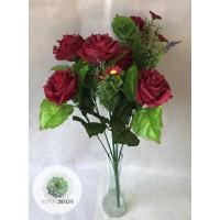 Rózsa csokor x9 55cm