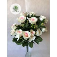 Rózsa csokor x24 krém-rózsaszín