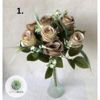 Rózsa csokor x9 38cm (TÖBB SZÍNBEN!)