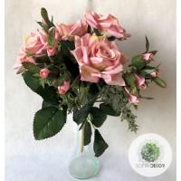 Rózsa csokor x7   32cm (TÖBB SZÍNBEN!)