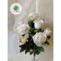 Rózsa-orchidea csokor x12