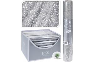 Glitteres organza 25*250cm ezüst