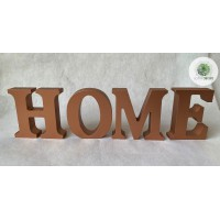 ",,HOME"" betűk bronz"