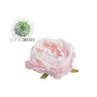 Rózsa fej 9-10cm rózsaszín (db ár!) CSAK CSOMAGRA RENDELHETŐ!