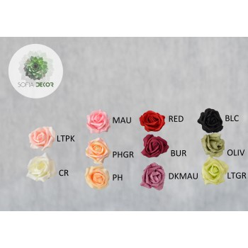 Polifoam rózsa fej 8cm (CSOMAG ÁR!)