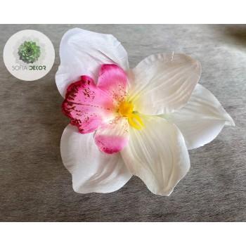 Orchidea fej 14-15cm (db ár!) CSAK CSOMAGRA RENDELHETŐ!