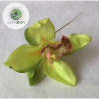 Gumi orchidea fej 12cm (db ár!) CSAK CSOMAGRA RENDELHETŐ!