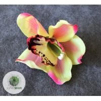 Gumi orchidea fej 10cm (db ár!) CSAK CSOMAGRA RENDELHETŐ!