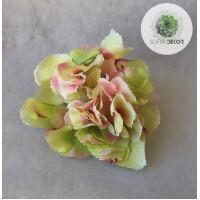 Hortenzia fej krém-zöld-rózsaszín (db ár!)