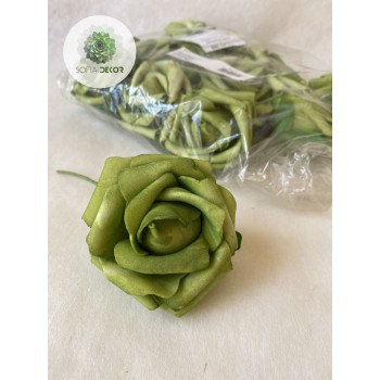 Polifoam rózsa fej szárral piros, zöld (CSOMAG ÁR!)