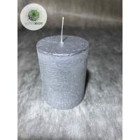 Gyertya henger ezüst  45*60mm (db ár)