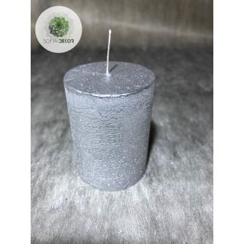 Gyertya henger ezüst 40*50mm (db ár)