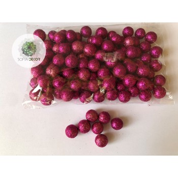 Glitteres bogyó 1,5cm pink