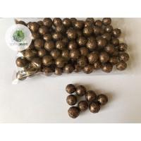 Glitteres bogyó 1,5cm barna